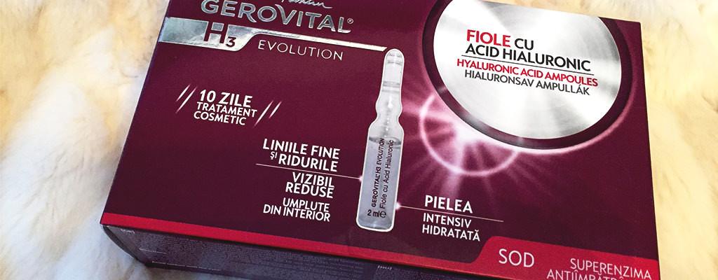 Fiole cu acid hialuronic Gerovital – păreri după utilizare