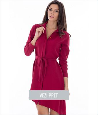 Rochie Roh Boutique stil camasa asimetrica