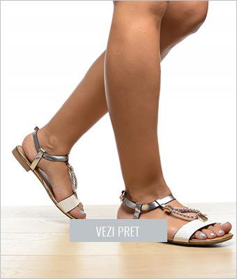 Sandale Napal albe