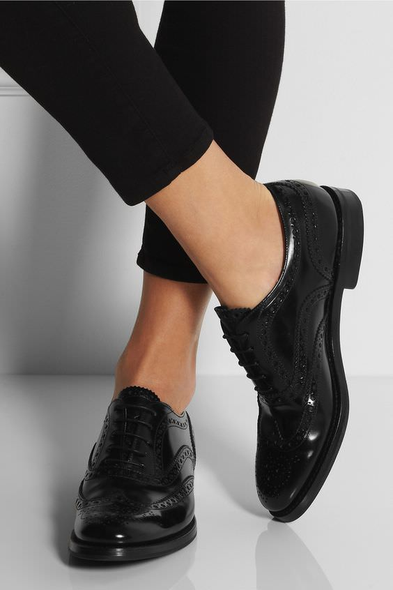 pantofi oxford negri