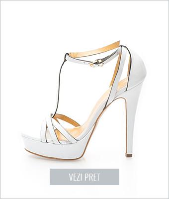 Sandale albe de piele Versace