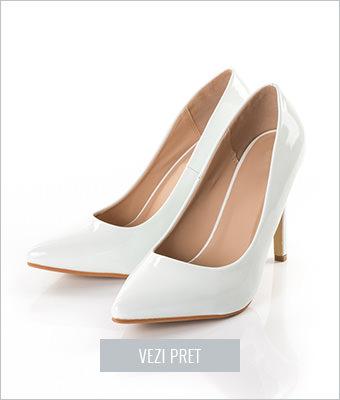 Pantofi albi Isidora