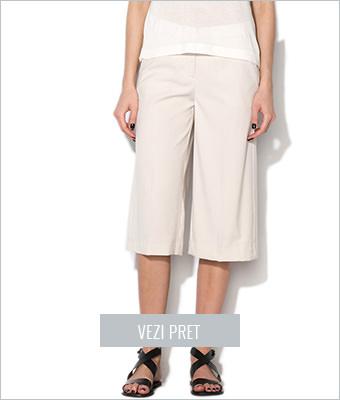 Pantaloni culottes bej Vero Moda