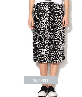 Fusta pantalon cu imprimeu leopard Only