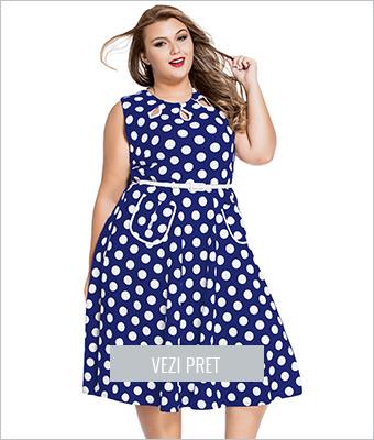 Rochie xxl blue Polka Dot