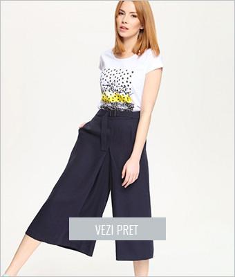 Pantaloni largi 3/4 Top Secret