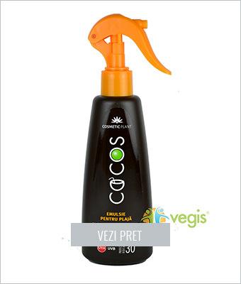 Emulsie spray cu ulei de cocos SPF30