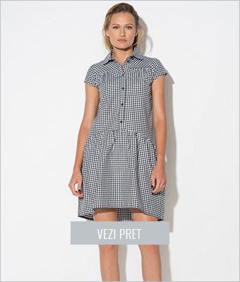 Rochie negru cu alb Zee Lane