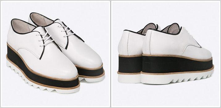 Pantofi Oxford Bronx talpa foarte inalta