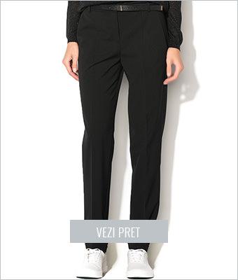 Pantaloni negri conici Esprit