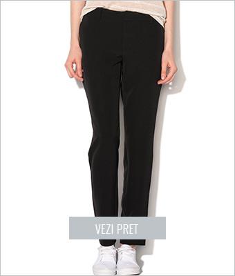 Pantaloni negri conici Vero Moda