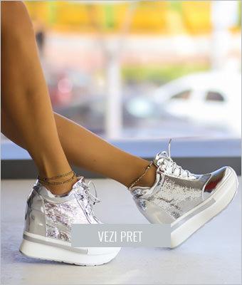 Pantofi sport Spino argintii