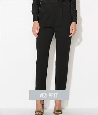 Pantaloni conici negri Zee Lane