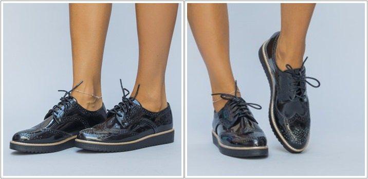 Pantofi casual Armen negri