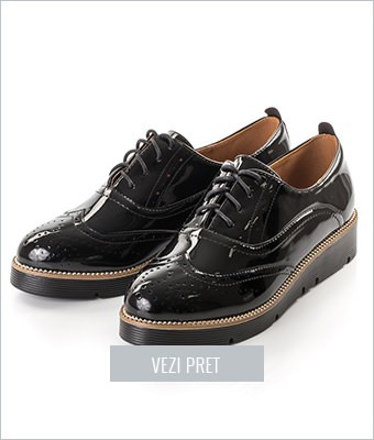 Pantofi dama Esperanta negri tip Oxford