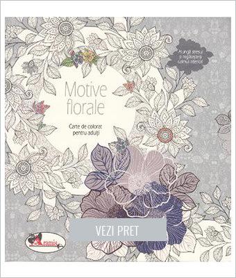 Motive florale Carte de colorat pentru adulti
