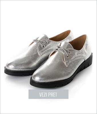 Pantofi dama Frappier argintii