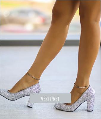 Pantofi Vuton argintii