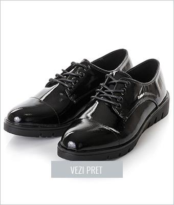Pantofi Huard negri cu platforma