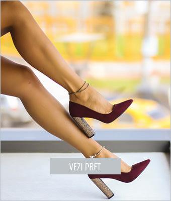 Pantofi Hapo grena