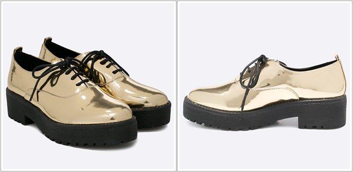 Pantofi Oxford ieftini platforma Corina