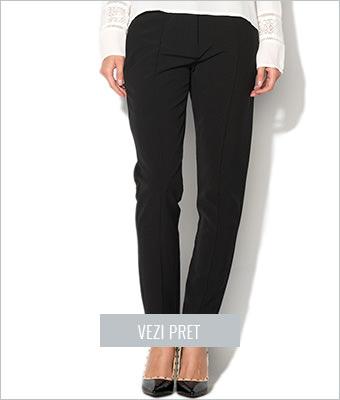 Pantaloni negri conici Vila