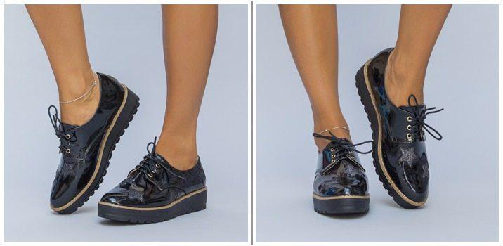 Pantofi casual Andoni negri