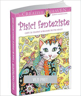 Pachet Pisici fanteziste Carte de colorat adulti