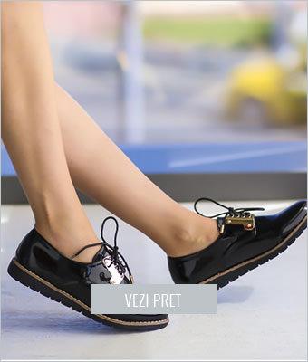 Pantofi casual Verna negri