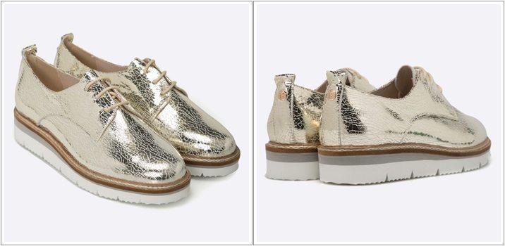 Pantofi Oxford Bayla ieftini cu talpa groasa