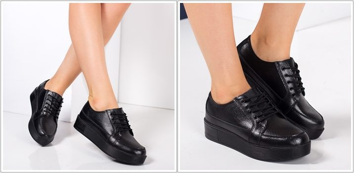 Pantofi dama piele naturala Eider negri