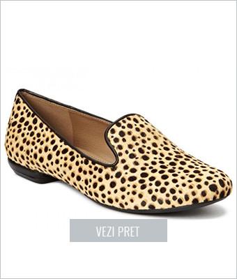 Loafer dama Ecco Perth leopard print