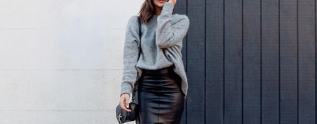 14 fuste din piele ecologică la modă în sezonul rece