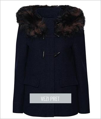 Palton bleumarin Only