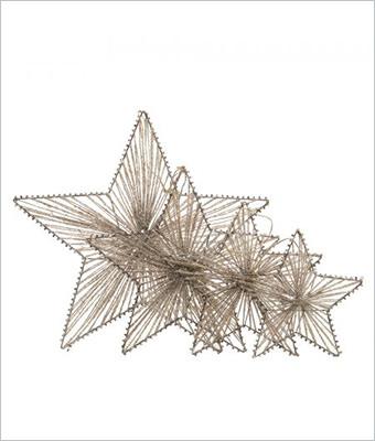 Set de 4 decoratiuni metalice stea
