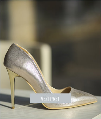 Pantofi Kely aurii