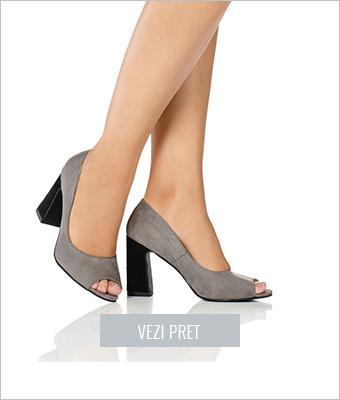 Pantofi pumps peep-toe