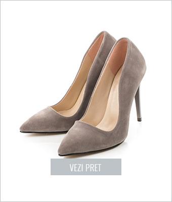 Pantofi dama stiletto Cersei gri