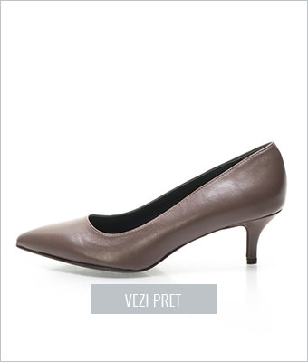 Pantofi maro sepia de piele Zee Lane