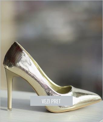 Pantofi Gabor aurii