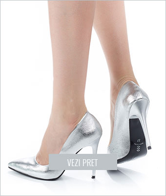 Pantofi dama Genevieve argintii