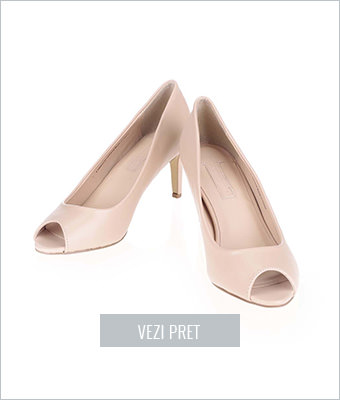 Pantofi bej Dorothy Perkins cu varf decupat