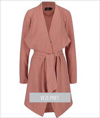 Palton roz prafuit Only