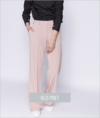 Pantaloni largi The Item roz pal