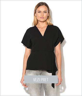 Bluza neagra suprapusa New Look