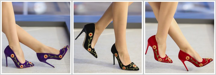 Pantofi brodati Bety