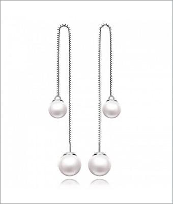 Cercei din argint cu perle sintetice