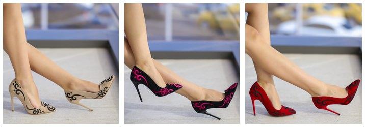 Pantofi brodati Cary