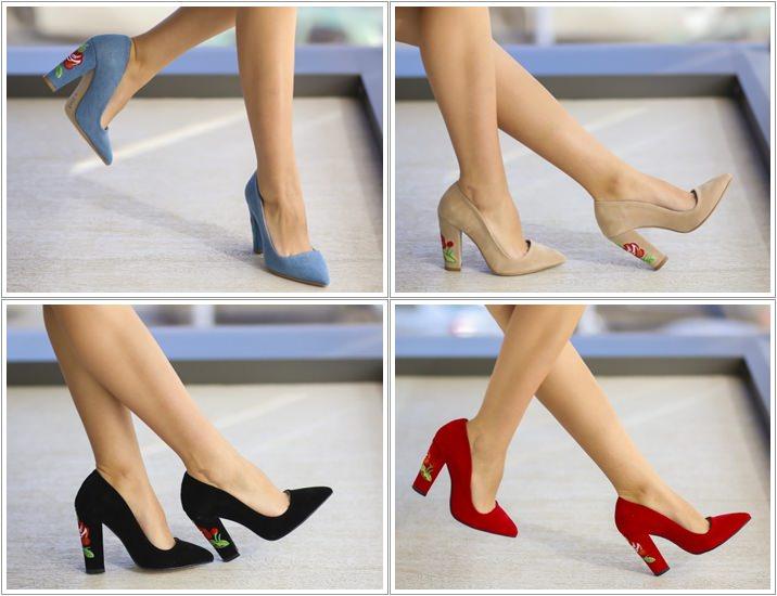 Pantofi brodati Ghimy