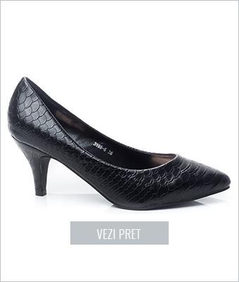 Pantofi dama Sophie negri cu toc